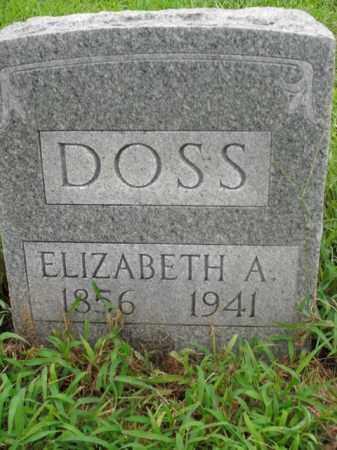 DOSS, ELIZABETH A. - Boone County, Arkansas | ELIZABETH A. DOSS - Arkansas Gravestone Photos