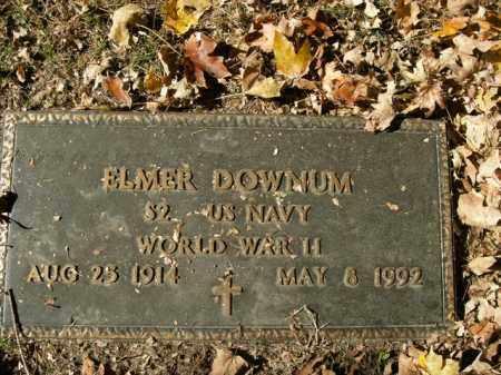 DOWNUM  (VETERAN WWII), ELMER - Boone County, Arkansas   ELMER DOWNUM  (VETERAN WWII) - Arkansas Gravestone Photos