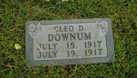 DOWNUM, CLEO D. - Boone County, Arkansas | CLEO D. DOWNUM - Arkansas Gravestone Photos