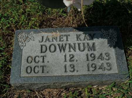 DOWNUM, JANET KAY - Boone County, Arkansas | JANET KAY DOWNUM - Arkansas Gravestone Photos