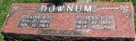 DOWNUM, SADIE ELIZABETH - Boone County, Arkansas | SADIE ELIZABETH DOWNUM - Arkansas Gravestone Photos
