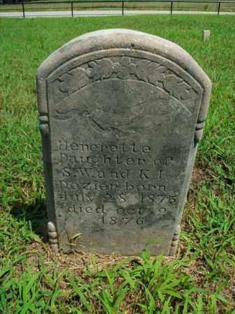 DOZIER, HENERETTE - Boone County, Arkansas | HENERETTE DOZIER - Arkansas Gravestone Photos