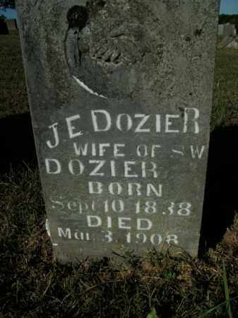 DOZIER, J.E. - Boone County, Arkansas | J.E. DOZIER - Arkansas Gravestone Photos