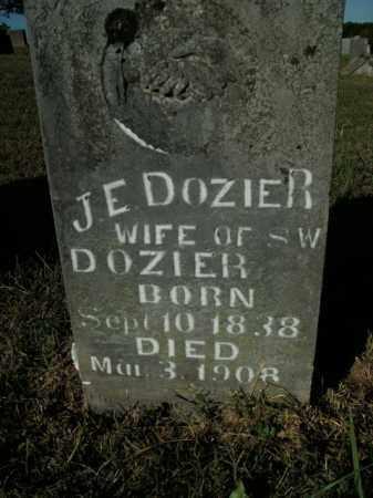 DOZIER, J.E. - Boone County, Arkansas | J.E. DOZIER - Arkansas Gravestone Photos