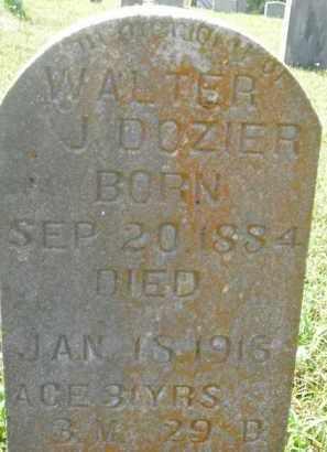 DOZIER, WALTER J. - Boone County, Arkansas | WALTER J. DOZIER - Arkansas Gravestone Photos