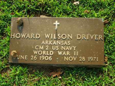 DRIVER  (VETERAN WWII), HOWARD WILSON - Boone County, Arkansas | HOWARD WILSON DRIVER  (VETERAN WWII) - Arkansas Gravestone Photos