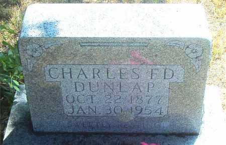 DUNLAP, CHARLES ED - Boone County, Arkansas | CHARLES ED DUNLAP - Arkansas Gravestone Photos