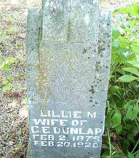 DUNLAP, LILLIE M. - Boone County, Arkansas | LILLIE M. DUNLAP - Arkansas Gravestone Photos
