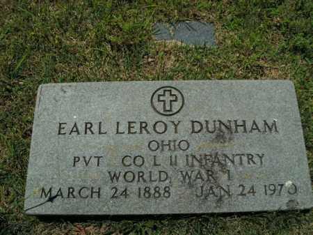 DUNHAM  (VETERAN WWI), EARL LEROY - Boone County, Arkansas | EARL LEROY DUNHAM  (VETERAN WWI) - Arkansas Gravestone Photos