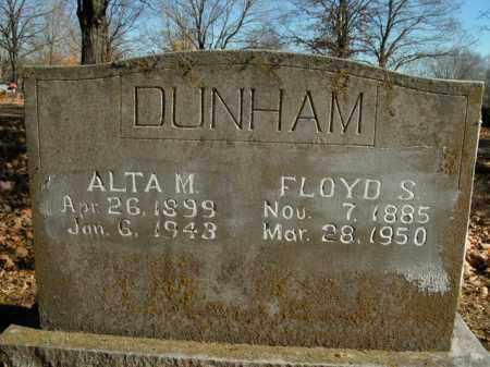 DUNHAM, FLOYD S. - Boone County, Arkansas | FLOYD S. DUNHAM - Arkansas Gravestone Photos