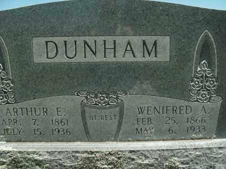 DUNHAM, ARTHUR E. - Boone County, Arkansas | ARTHUR E. DUNHAM - Arkansas Gravestone Photos