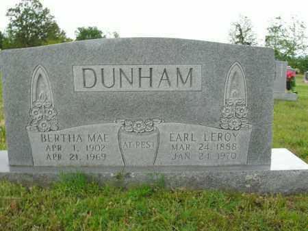 DUNHAM, EARL LEROY - Boone County, Arkansas | EARL LEROY DUNHAM - Arkansas Gravestone Photos