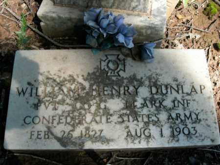 DUNLAP  (VETERAN CSA), WILLIAM HENRY - Boone County, Arkansas   WILLIAM HENRY DUNLAP  (VETERAN CSA) - Arkansas Gravestone Photos