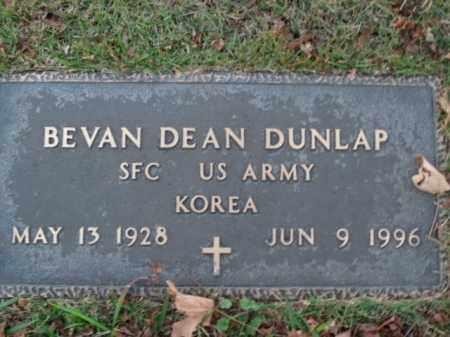DUNLAP  (VETERAN KOR), BEVAN DEAN - Boone County, Arkansas | BEVAN DEAN DUNLAP  (VETERAN KOR) - Arkansas Gravestone Photos