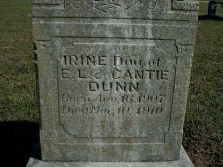 DUNN, IRINE - Boone County, Arkansas | IRINE DUNN - Arkansas Gravestone Photos