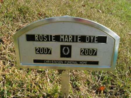 DYE, ROSIE MARIE - Boone County, Arkansas | ROSIE MARIE DYE - Arkansas Gravestone Photos