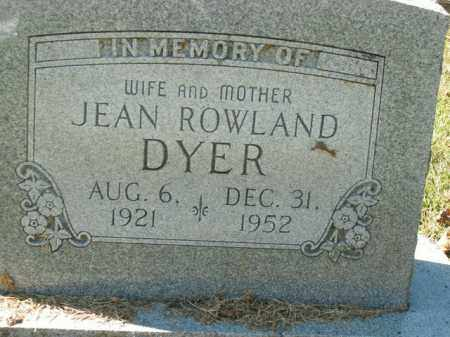 DYER, JEAN - Boone County, Arkansas | JEAN DYER - Arkansas Gravestone Photos