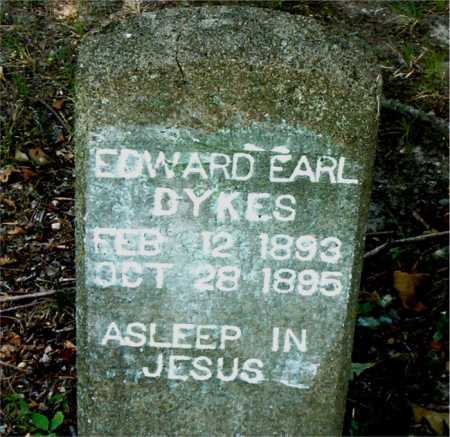 DYKES, EDWARD EARL - Boone County, Arkansas | EDWARD EARL DYKES - Arkansas Gravestone Photos