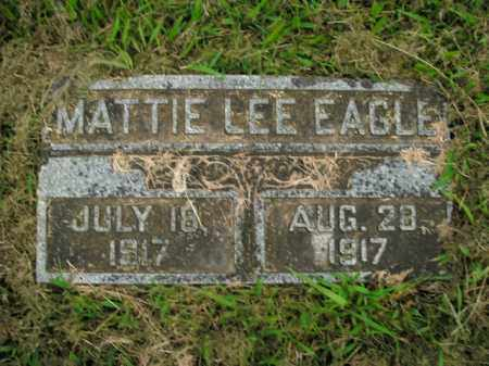 EAGLE, MATTIE LEE - Boone County, Arkansas | MATTIE LEE EAGLE - Arkansas Gravestone Photos
