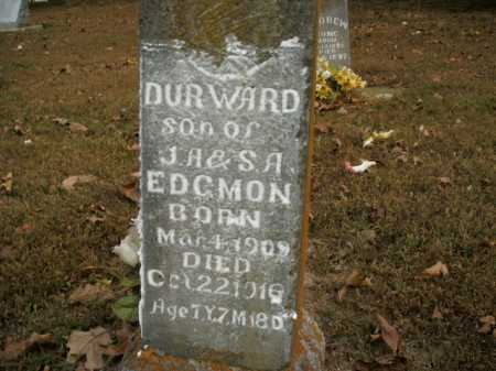 EDGMON, DURWARD - Boone County, Arkansas | DURWARD EDGMON - Arkansas Gravestone Photos
