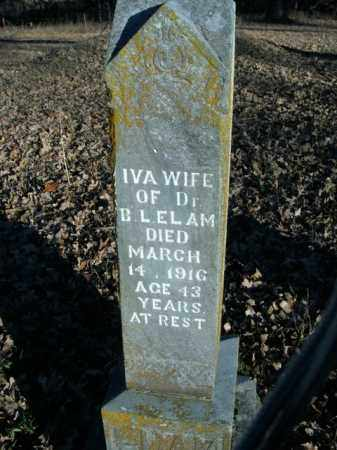 ELAM, IVA - Boone County, Arkansas | IVA ELAM - Arkansas Gravestone Photos