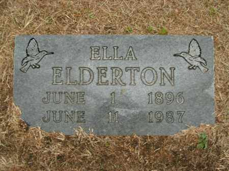 ELDERTON, ELLA - Boone County, Arkansas | ELLA ELDERTON - Arkansas Gravestone Photos