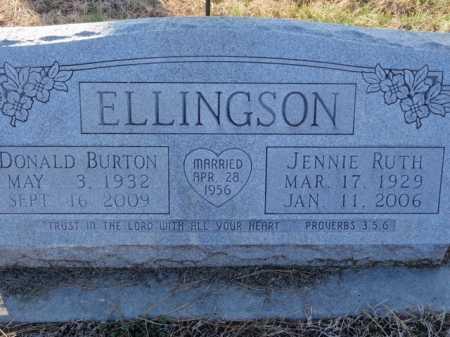 ELLINGSON, JENNIE RUTH - Boone County, Arkansas | JENNIE RUTH ELLINGSON - Arkansas Gravestone Photos