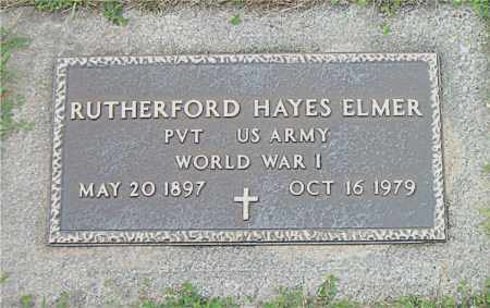 ELMER  (VETERAN WWI), RUTHERFORD HAYES - Boone County, Arkansas | RUTHERFORD HAYES ELMER  (VETERAN WWI) - Arkansas Gravestone Photos