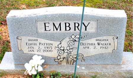 PATTON EMBRY, EDITH - Boone County, Arkansas | EDITH PATTON EMBRY - Arkansas Gravestone Photos