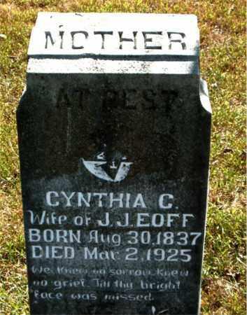 EOFF, CYNTHIA CAROLINE - Boone County, Arkansas | CYNTHIA CAROLINE EOFF - Arkansas Gravestone Photos