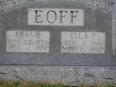 EOFF, FRANK - Boone County, Arkansas | FRANK EOFF - Arkansas Gravestone Photos
