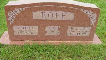 EOFF, W. DOYLE - Boone County, Arkansas | W. DOYLE EOFF - Arkansas Gravestone Photos