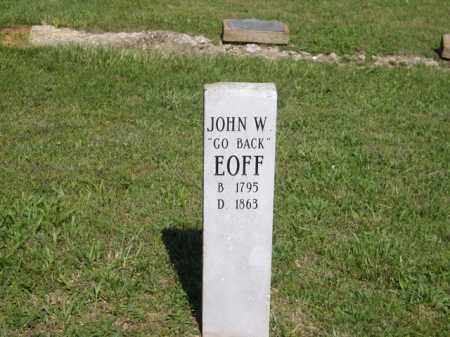 "EOFF, JOHN W. ""GO BACK"" - Boone County, Arkansas 