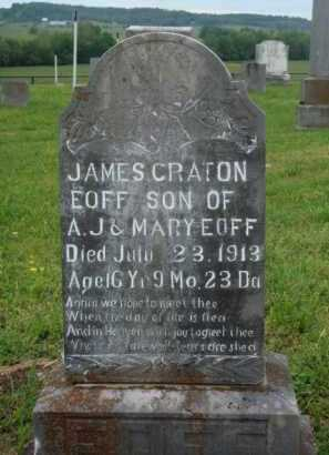 EOFF, JAMES CRATON - Boone County, Arkansas | JAMES CRATON EOFF - Arkansas Gravestone Photos