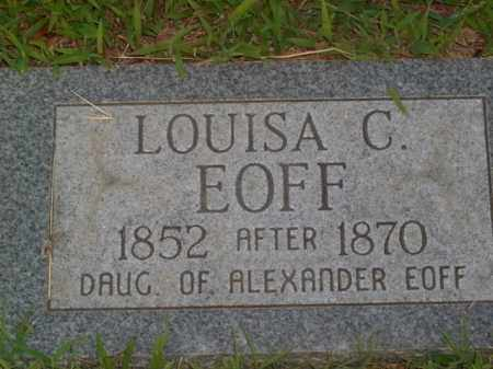 EOFF, LOUISA C. - Boone County, Arkansas | LOUISA C. EOFF - Arkansas Gravestone Photos