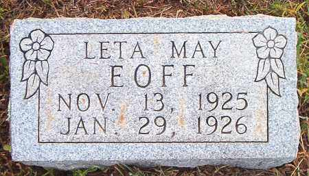 EOFF, LETA MAY - Boone County, Arkansas | LETA MAY EOFF - Arkansas Gravestone Photos