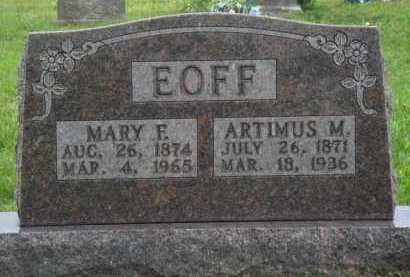 EOFF, MARY E. - Boone County, Arkansas | MARY E. EOFF - Arkansas Gravestone Photos
