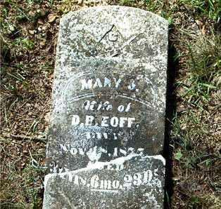 EOFF, MARY  J. - Boone County, Arkansas | MARY  J. EOFF - Arkansas Gravestone Photos
