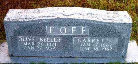 BELLER EOFF, OLIVE - Boone County, Arkansas | OLIVE BELLER EOFF - Arkansas Gravestone Photos