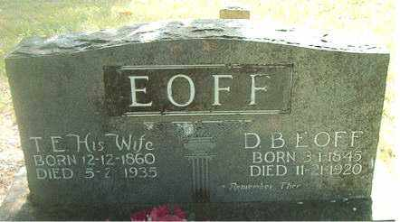 EOFF, BARNES D. - Boone County, Arkansas | BARNES D. EOFF - Arkansas Gravestone Photos