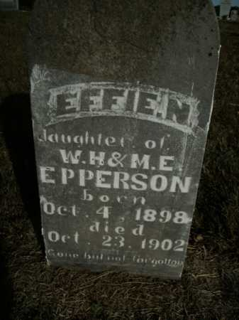 EPPERSON, EFFIE N. - Boone County, Arkansas | EFFIE N. EPPERSON - Arkansas Gravestone Photos