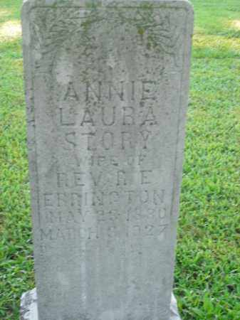 STORY ERRINGTON, ANNIE LAURA - Boone County, Arkansas | ANNIE LAURA STORY ERRINGTON - Arkansas Gravestone Photos