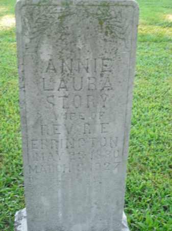 ERRINGTON, ANNIE LAURA - Boone County, Arkansas | ANNIE LAURA ERRINGTON - Arkansas Gravestone Photos