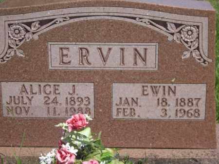 ERVIN, ALICE JANE - Boone County, Arkansas | ALICE JANE ERVIN - Arkansas Gravestone Photos