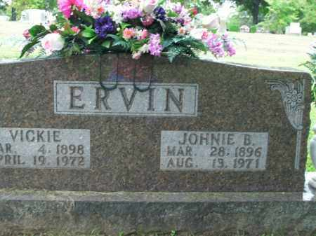 ERVIN, JOHNIE B. - Boone County, Arkansas | JOHNIE B. ERVIN - Arkansas Gravestone Photos