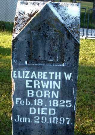 ERWIN, ELIZABETH W. - Boone County, Arkansas | ELIZABETH W. ERWIN - Arkansas Gravestone Photos