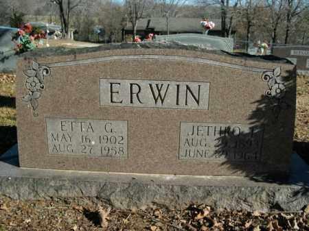 ERWIN, JETHRO T. - Boone County, Arkansas | JETHRO T. ERWIN - Arkansas Gravestone Photos