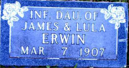 ERWIN, INFANT DAUGHTER - Boone County, Arkansas | INFANT DAUGHTER ERWIN - Arkansas Gravestone Photos