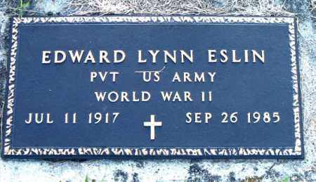 ESLIN  (VETERAN WWII), EDWARD LYNN - Boone County, Arkansas | EDWARD LYNN ESLIN  (VETERAN WWII) - Arkansas Gravestone Photos
