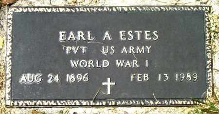 ESTES  (VETERAN WWI), EARL  A. - Boone County, Arkansas | EARL  A. ESTES  (VETERAN WWI) - Arkansas Gravestone Photos